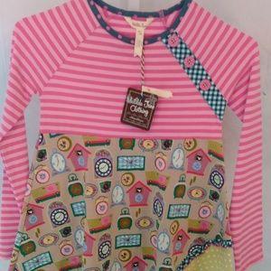 Matilda Jane Clothing Printed Clock Design Shirt